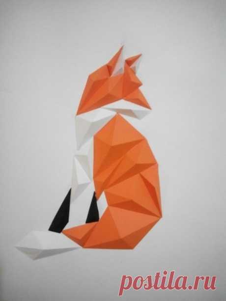 Оригами лиса из бумаги своими руками: схемы и подробное описание складывания поделки