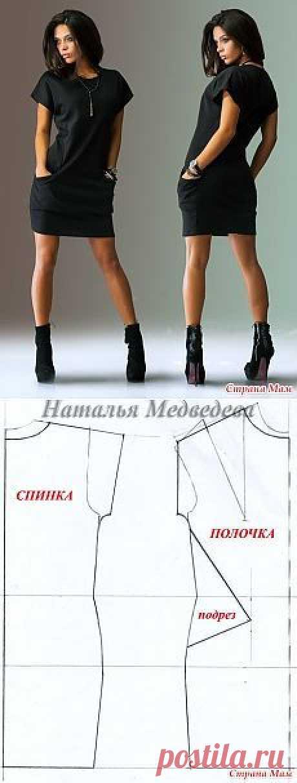(113) Cortar y coser vestidos de silueta recta, con mangas cortas y grandes bolsillos - casa las mamás | выкройки