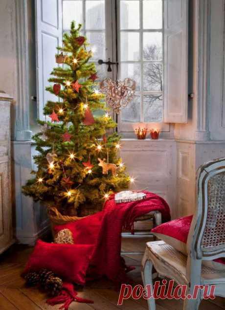 Идеи для новогоднего декора для небольших помещений   Любимый дом
