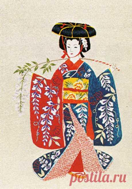 東京文化刺繍キット No269 藤娘(6号)