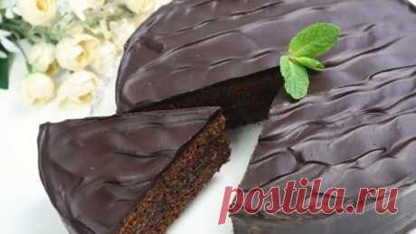 Домашний и очень простой торт Захер! Знаменитый десерт!