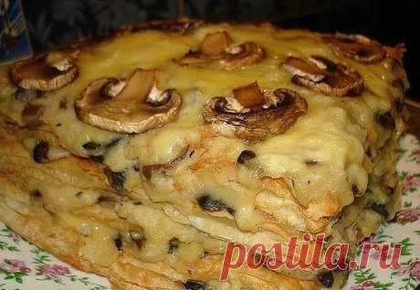 ГОРЯЧИЙ «НАПОЛЕОН» с картофельно-грибным кремом | Самые вкусные кулинарные рецепты