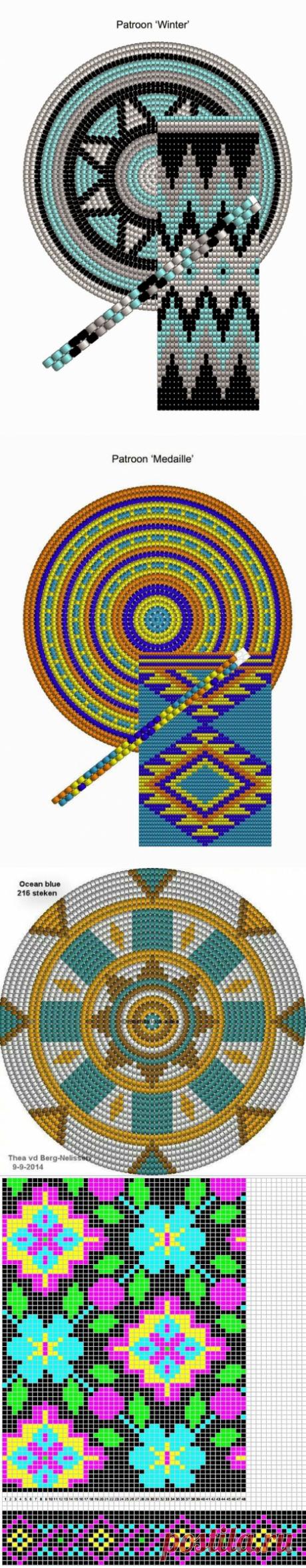 Жаккардовое вязание крючком и спицами.