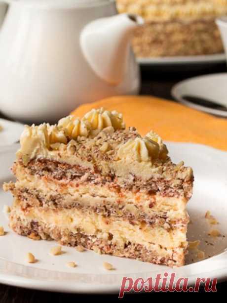 Рецепт орехового торта с масляным кремом на Вкусном Блоге