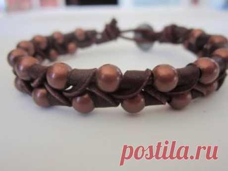 Leather bracelet. кожаный браслет