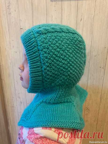 Шапочка-шлем | Вязание спицами для детей