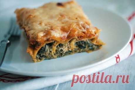 Каннеллони со шпинатом и сыром рецепт с фото и видео - 1000.menu