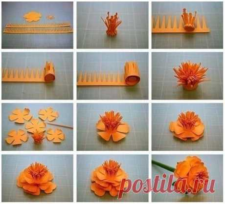 Бумажные цветы — Поделки с детьми