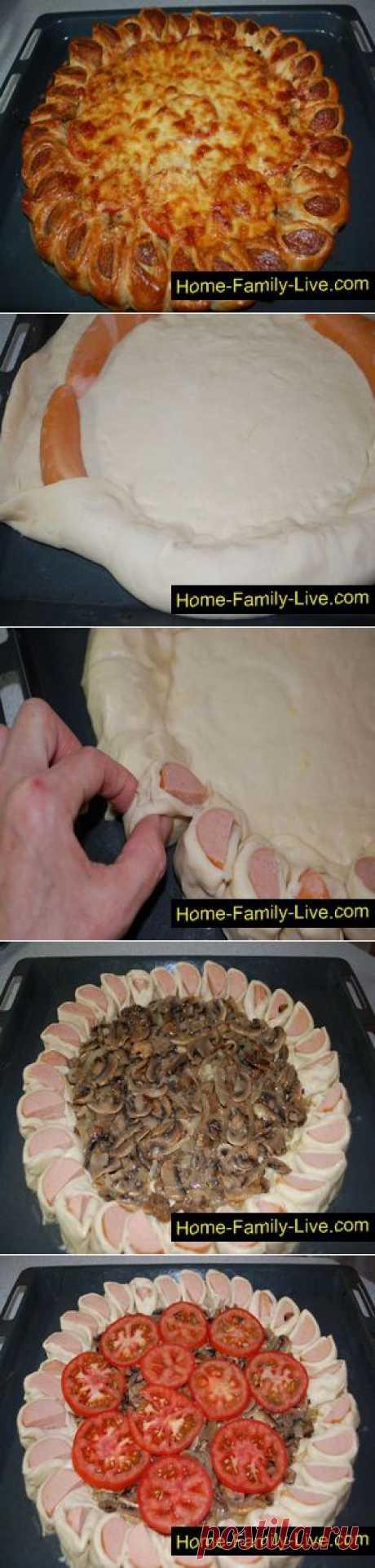 Пирог с грибами - пошаговый фоторецепт