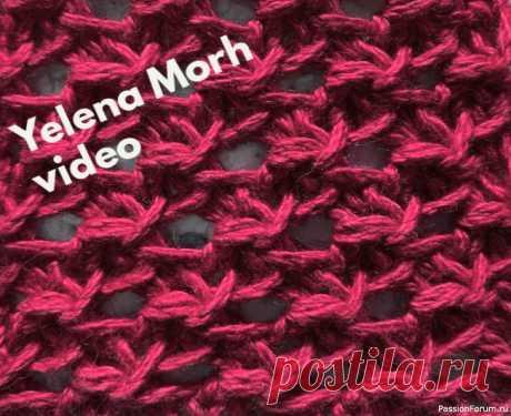 Узор ''Сонет''. Видео МК | Вязание спицами для начинающих Упругая, крепкая сеточка на спицах.