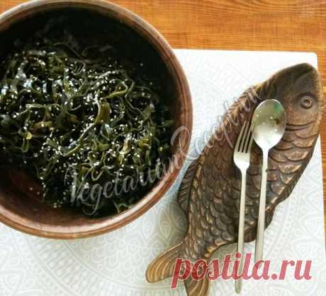 Салат из сушеной морской капусты Полезный салат в любое время года!