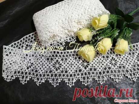 Филейка +ткань ( кайма к скатерти, занавеске и подзору) - Вязание - Страна Мам