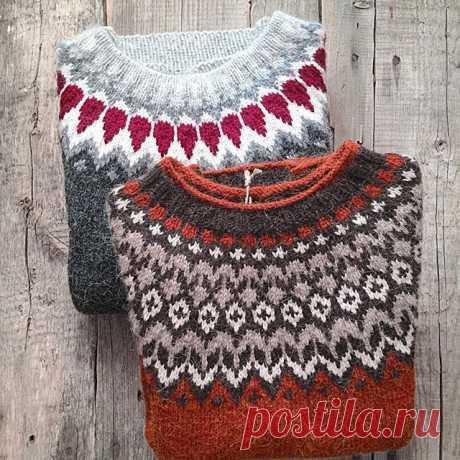 Lopapeysa - описание знаменитого исландского свитера с круглой кокеткой