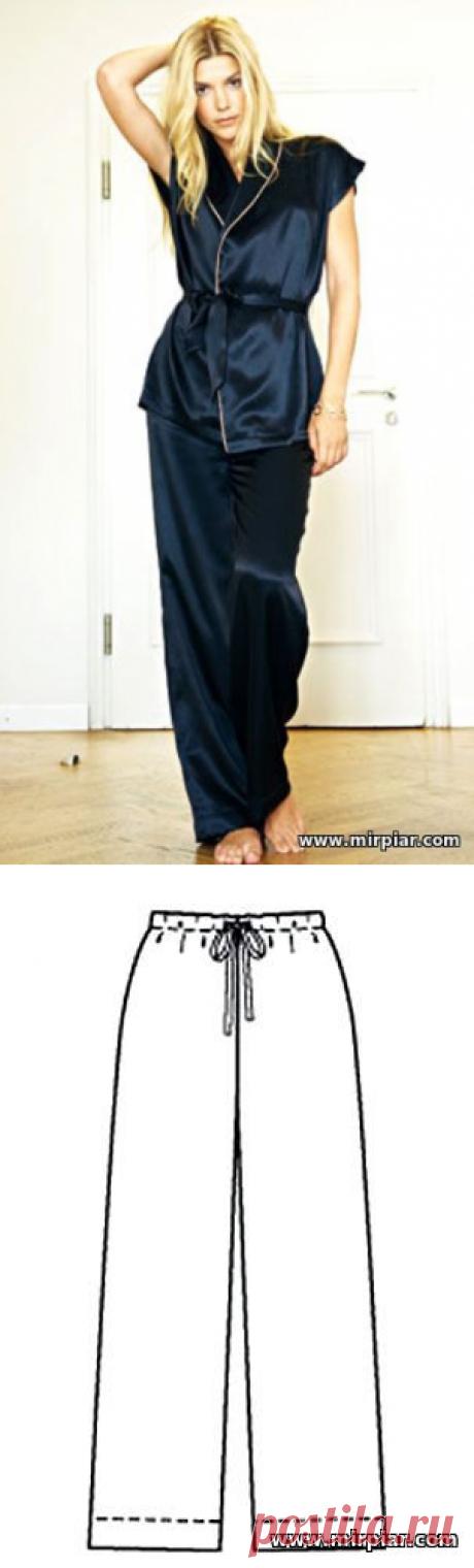 free pattern, пижама, pattern sewing, брюки, выкройки скачать, шитье, готовые выкройки, скачать, белье, пижамные брюки, одежда для дома, MirPiar.com