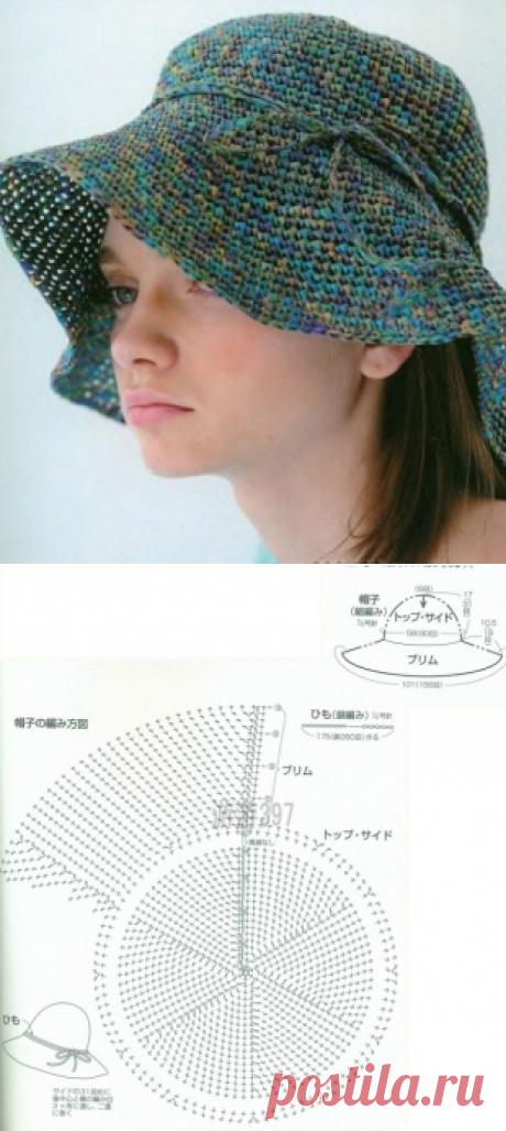 Схема вязания шляпы крючком