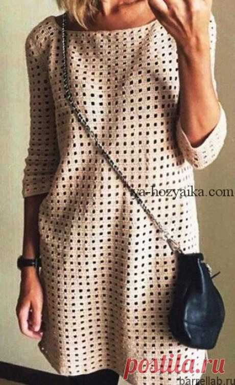 Платье-туника сетчатым узором