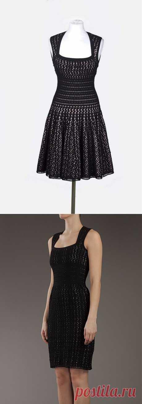 Романтика 50х - черное платье крючком от Azzedine Ala&.