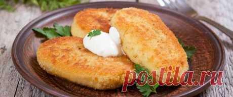 Картофельные котлеты • Рецепт Нежные картофельные котлеты со сливочным маслом и яйцом на сковороде. К тому же по рецепту получатся очень вкусные овощные котлеты.