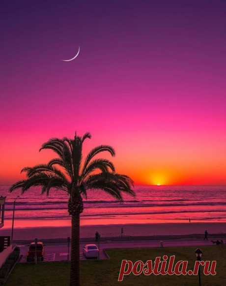 Закат в Сан-Диего. Калифорния. США.