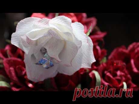 Как сделать Розы из конфет и гофрированной бумаги - запись пользователя Anna Makes Flowers (Анна) в сообществе Свит-дизайн в категории Мастер классы по свит-дизайну