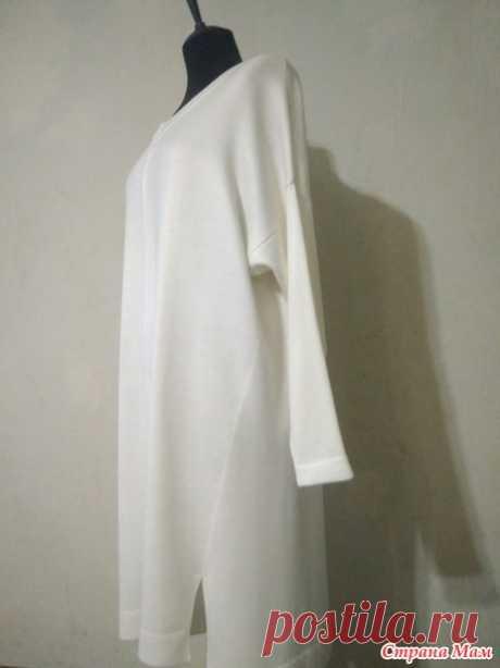Платье-кокон оверсайз - Машинное вязание - Страна Мам