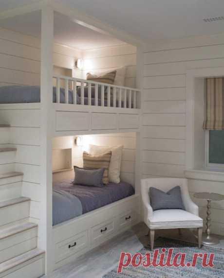 Классная двухъярусная кровать для двух подростков