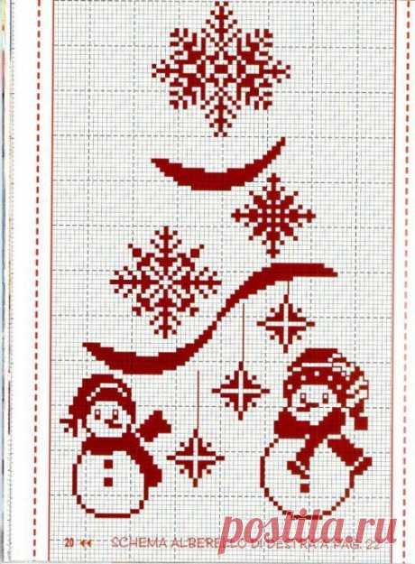 De Año Nuevo zhakkard \/ la Costura \/ el bordado del esquema, zhakkard \/ Pinme.ru