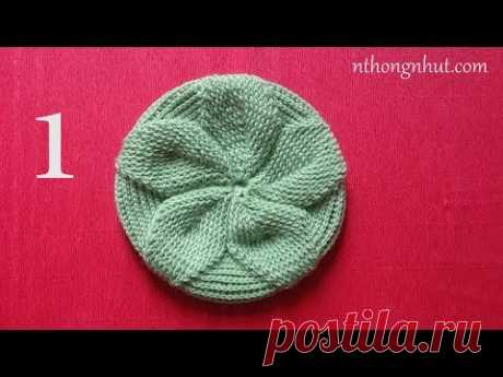 Hướng dẫn cách móc mũ nồi (nón bánh tiêu) | Crochet beret hat tutorial (1/2)