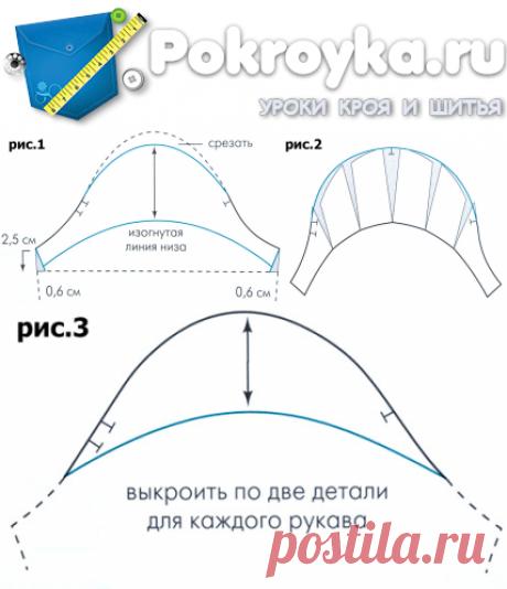 Мини-рукав выкройка | pokroyka.ru-уроки кроя и шитья