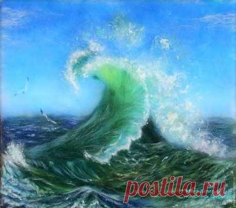 Шерстяная живопись: море — Сделай сам, идеи для творчества - DIY Ideas
