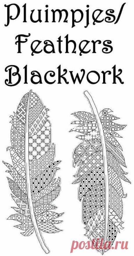 Blackwork Feathers от HetBorduurbloempje-The Other Hand Works Общение / загрузка (не могу опубликовать только новую ветку ответа) -Другие ресурсы Hand Works   Журналы-PinDIY
