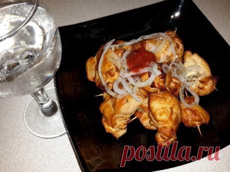 Шашлык из куриной грудки в духовке рецепт с фото - 1000.menu