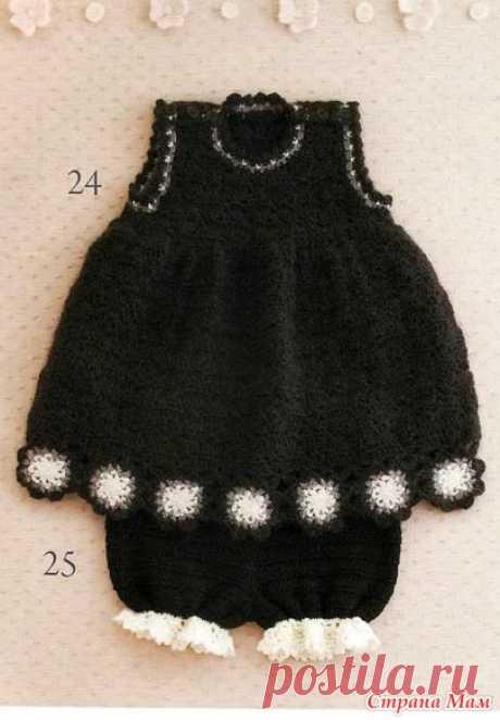 Платье, шортики и кофточка для маленьких принцесс из японского журнала. - Все в ажуре... (вязание крючком) - Страна Мам