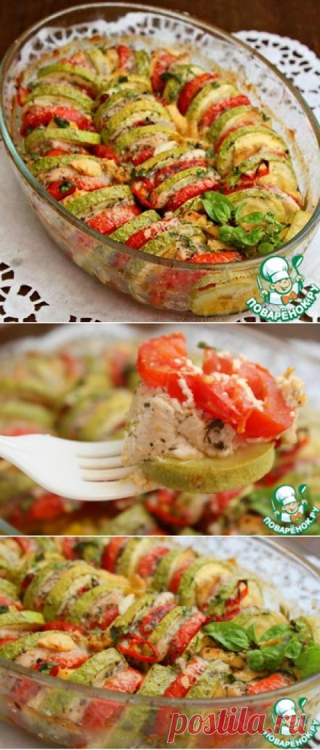 Легкая овощная запеканка с куриной грудкой - кулинарный рецепт