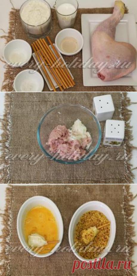 """""""Куриные ножки"""", запеченные в тесте в духовке - рецепт с фото"""
