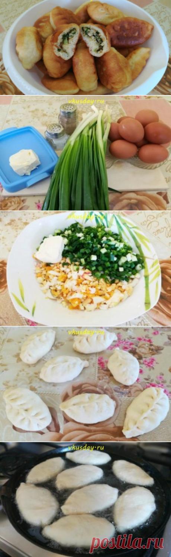Пирожки с зеленым луком и яйцом   Вкусный день