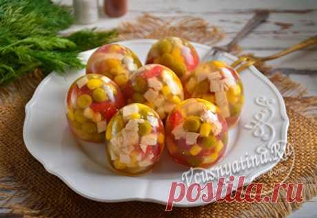 "Заливные яйца ""Фаберже"" на Пасху: рецепт с фото"