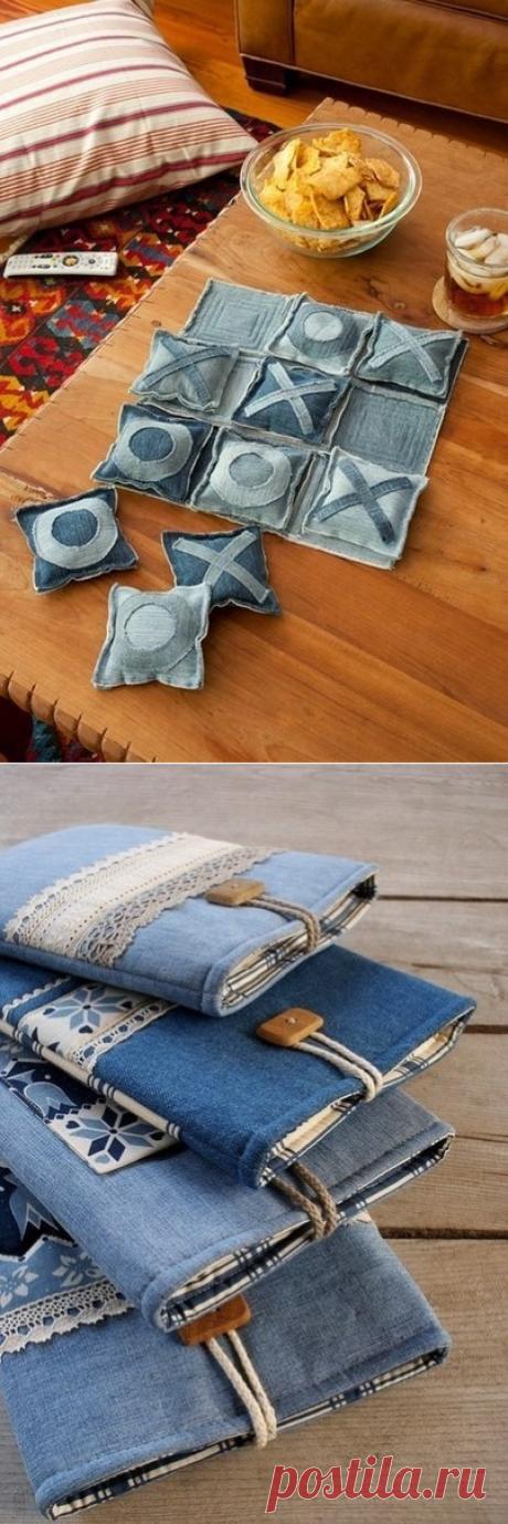 Как можно использовать старые джинсы