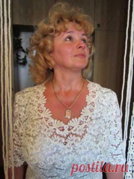 Шьем кружево: обработка горловины фестонами (Шитье и крой) — Журнал Вдохновение Рукодельницы