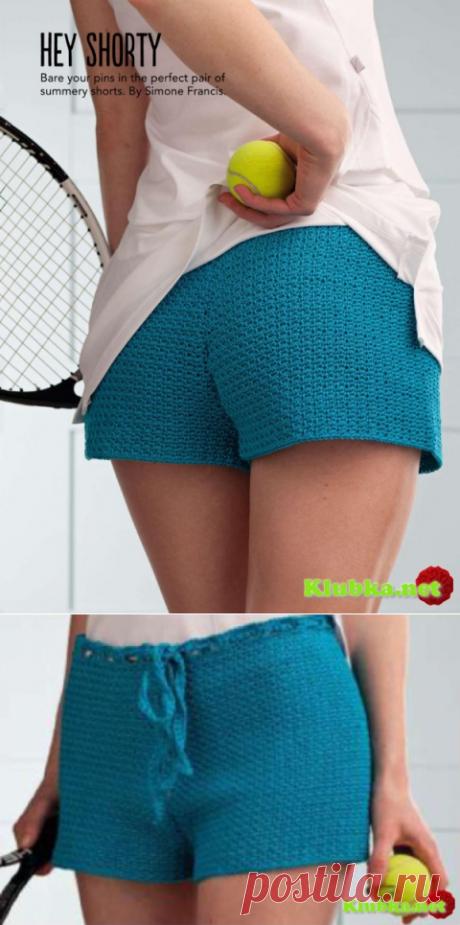 Вязанные крючком тенисные шорты » Клубка.Нет - Все о вязании крючком