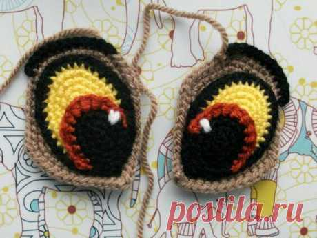 How to connect and embroider eyes (a selection of schemes) \/ Knitting \/ Second Street