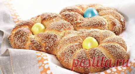 Греческий пасхальный хлеб — Едим дома