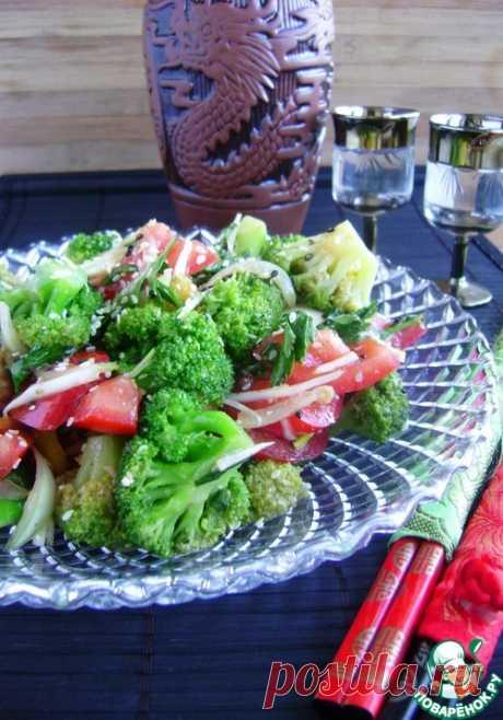 Салат из брокколи с овощами - кулинарный рецепт