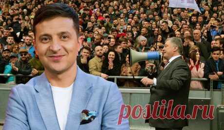 Кандидат в президенты В. Зеленский опубликовал видео в социальной сети Инстаграм, в котором обвинил действующего президента Украины в ненадлежащем выполнении им своих основных задач как главы государства и регулярной «беготне» по телеканалам.
