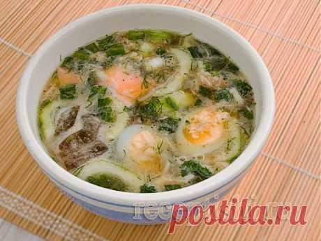 Окрошка рыбная | Кулинарные рецепты с фото на Рецептыши.ру