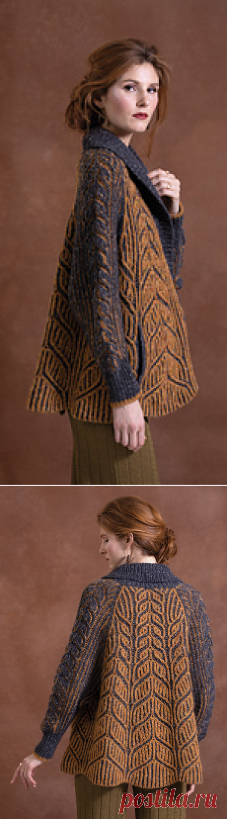 Ravelry: #18 Amber Leafy Coat pattern by Quinny Zhang