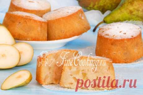 Рисовые кексы с грушей - рецепт с фото