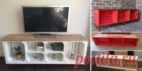 Мебель из деревянных ящиков: идеи и мастер-класс
