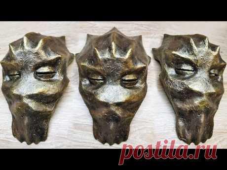 Настенная маска-декор с подсветкой