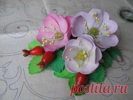 Шаблоны для цветов из фоамирна, забирайте